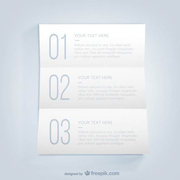 List Infographic Template Free Vector