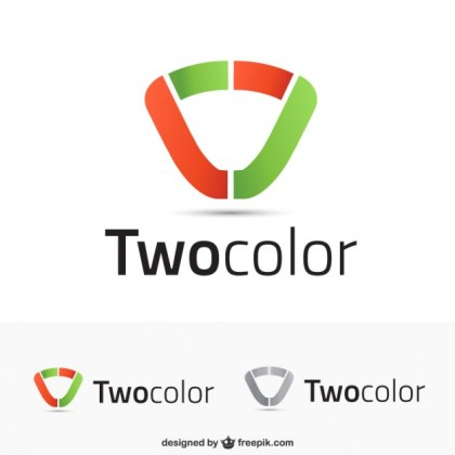 Logo Templates in Two Colors Free Vector