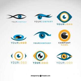 Logos Eyes Set Free Vector