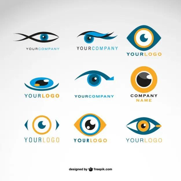 Logos Eyes Set Free Vector