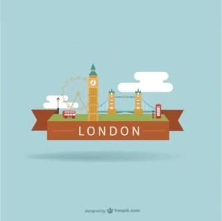 London City Landmarks Free Vector