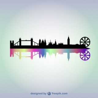 London Cityscape Background Free Vector