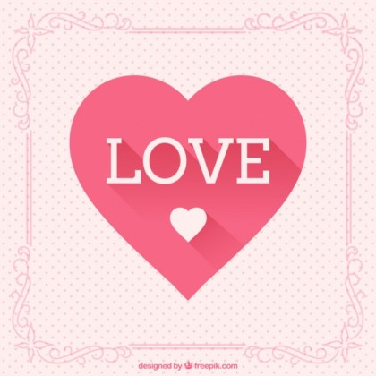 Love and Heart Greeting Card Free Vector