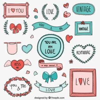 Love Frames Free Vector