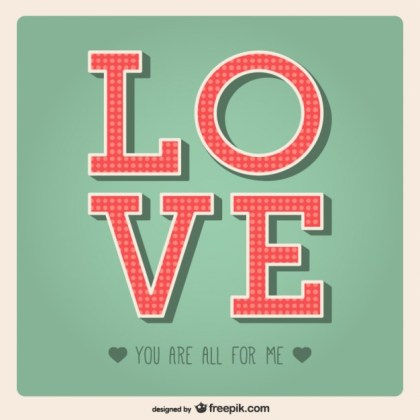 Love Greeting Card Free Vector