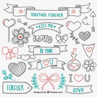 Love Hand Drawn Elements Free Vector