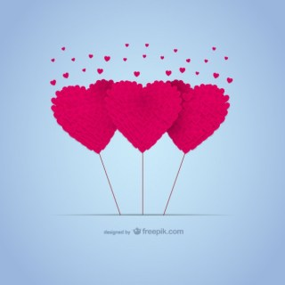 Love Hearts Card for Download Free Vector