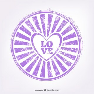 Love Rubber Stamp Free Vector