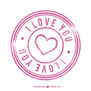 Love Stamp Free Vector