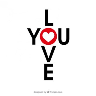 Love You Lettering Design Free Vector