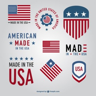 Made in Usa Badges Free Vector