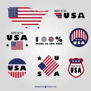 Made in Usa Badges Set Free Vector