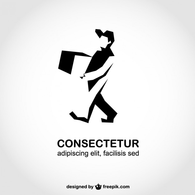 Man Silhouette Delivery Logo Template Free Vector