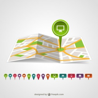 Map Pin Template Free Vector