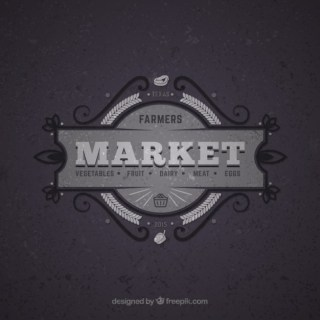 Market Retro Badge Free Vector