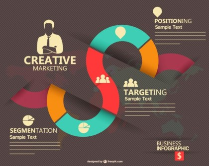 Marketing Infographic Design Free Vector