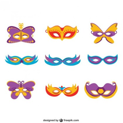 Masks Collection Free Vector