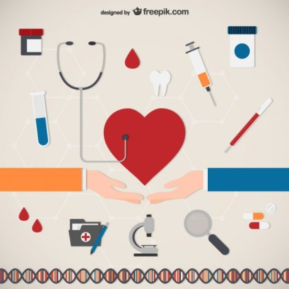 Medical Care Icons Free Vector
