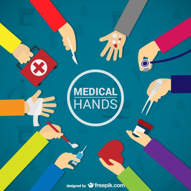 Medical Hands Free Vector