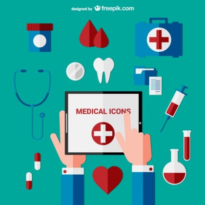 Medical Icons Free Vector