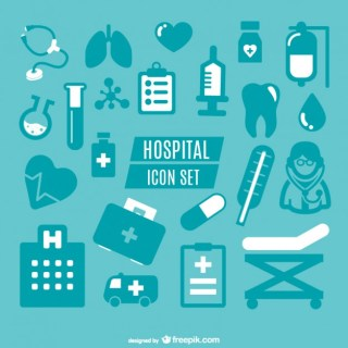 Medical Simple Icons Graphics Free Vector