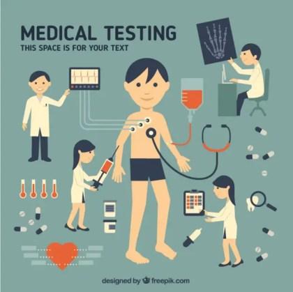 Medical Testing Free Vector