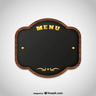 Menu Board Free Vector