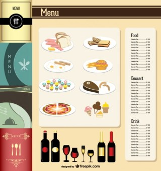 Menu Design Elements Set Free Vector