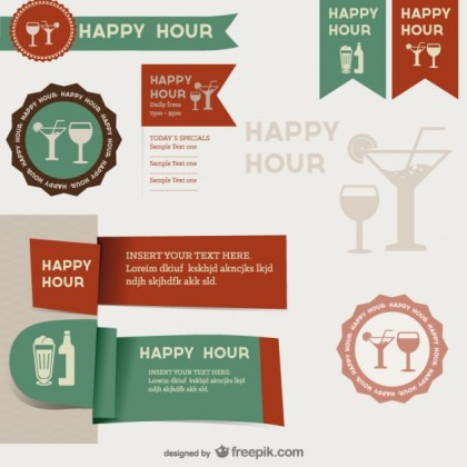 Menu Restaurant Label Templates Material Free Vector