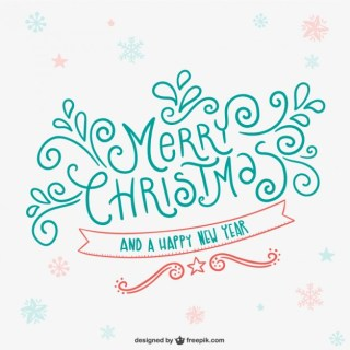 Merry Christmas Card Free Vector