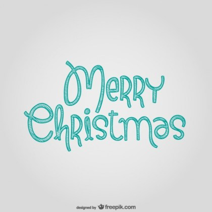 Merry Christmas Lettering Free Vector