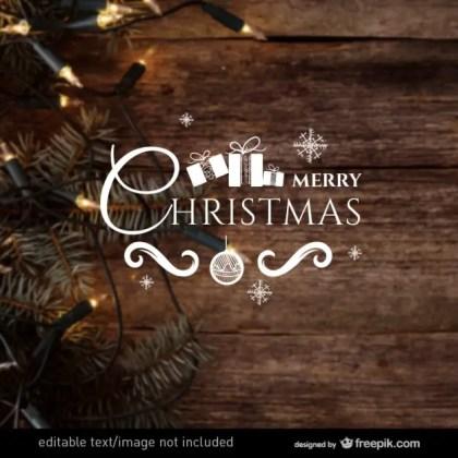 Merry Christmas Seasonal Greeting Free Vector