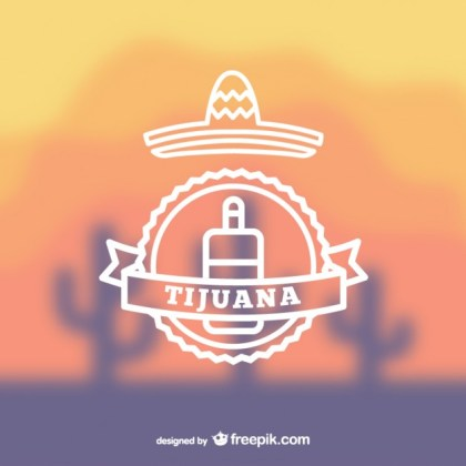 Mexican Tijuana Logo Free Vector