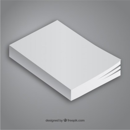 Minimalist Book Template Free Vector