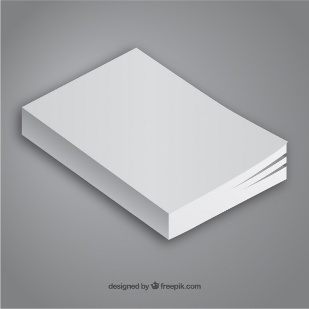 Minimalist Book Template Free Vector