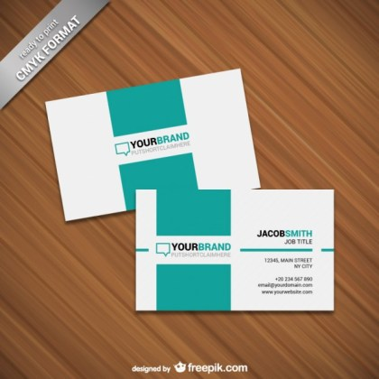 Minimalist Card Template Free Vector