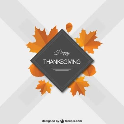 Minimalist Happy Thanksgiving Free Vector