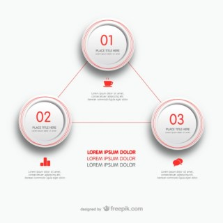 Minimalist Infographic Template Free Vector