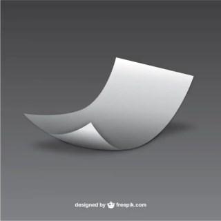 Minimalist Sheet of Paper Free Vector