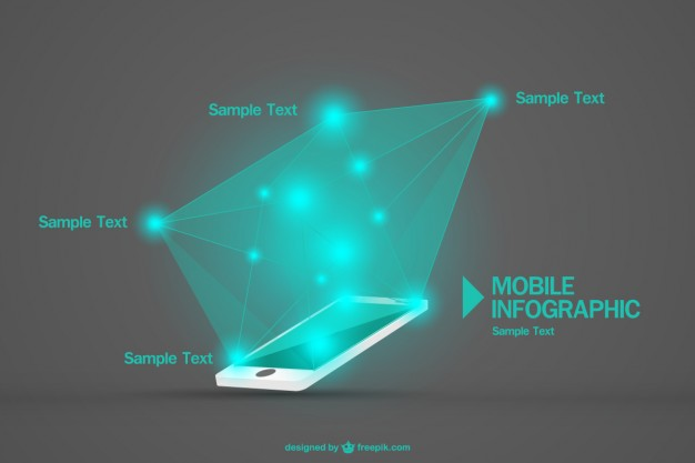 Mobile Infographic Free Vector