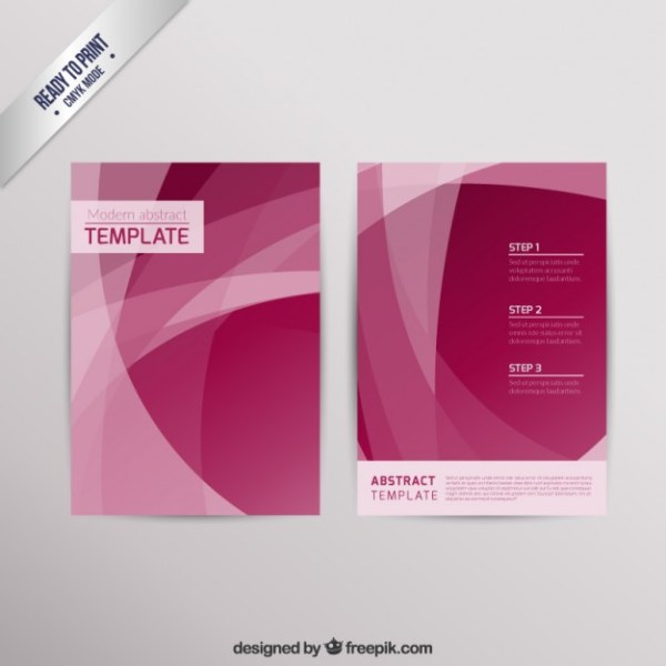Modern Brochure in Abstract Style Free Vector