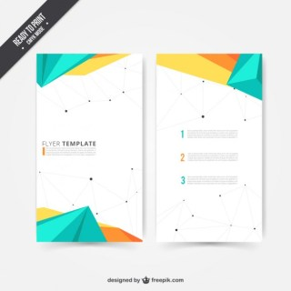 Modern Flyer in Polygonal Design Free Vector