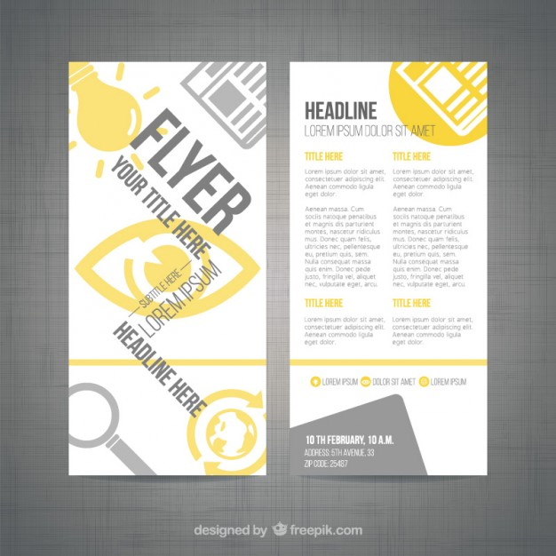 Modern Flyer Template Free Vector 123freevectors
