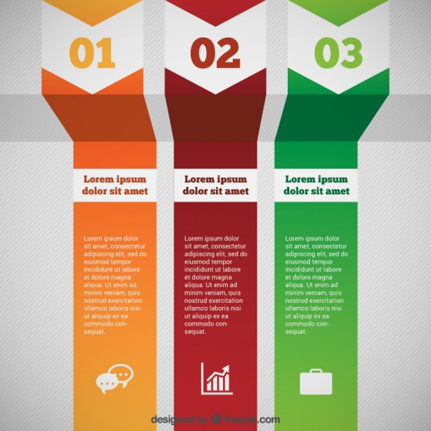 Modern Process Infographic Free Vector