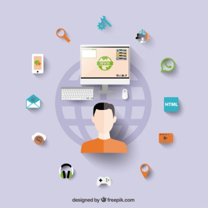 Modern Technology Concept Free Vector