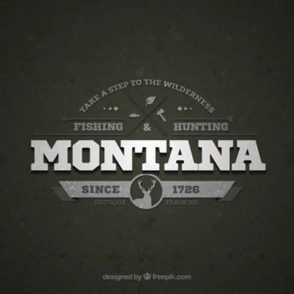 Montana Retro Logo Free Vector