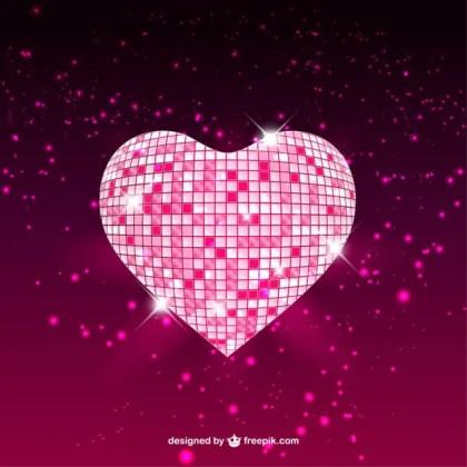 Mosaic Glossy Heart Free Vector