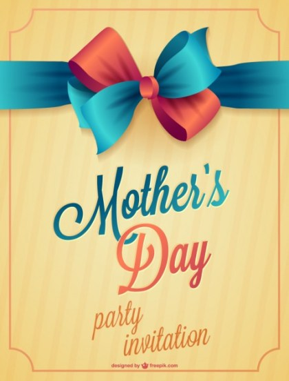 Mothers Day Printable Card Free Vector