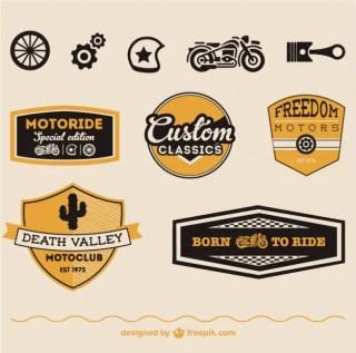 Motorcycle Symbols Free Vector