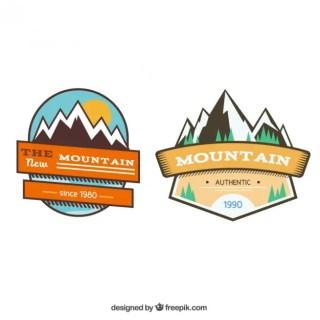 Mountain Badges Free Vector
